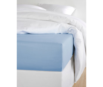 De Witte Lietaer Fitted Sheet Cotton Satin Olivia Serenity - 160 x 200 cm