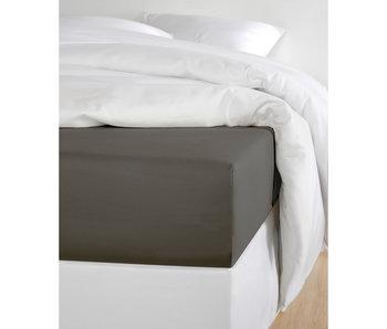 De Witte Lietaer Fitted Sheet Cotton Satin Olivia Ebony - 180 x 200 cm