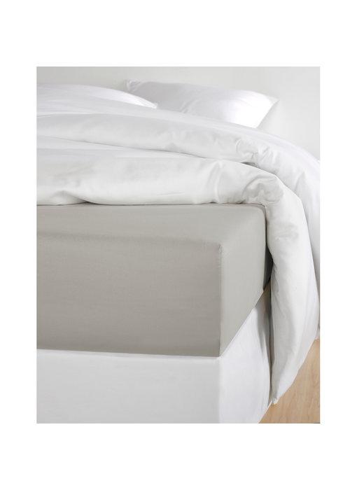 De Witte Lietaer Hoeslaken Katoen Satijn Olivia Dove - 180 x 200 cm