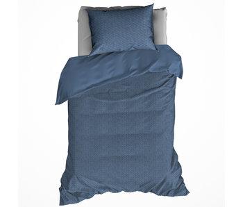 De Witte Lietaer Housse de couette Coton Flanelle Turbot Stellar Blue 140 x 200/220 cm