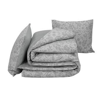 De Witte Lietaer Bettbezug Baumwolle Flanell Lea Grau 260 x 240 cm