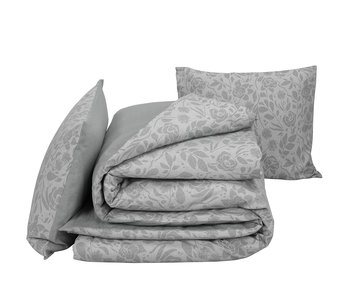 De Witte Lietaer Bettbezug Baumwolle Flanell Lea Grau 240 x 220 cm