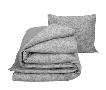 De Witte Lietaer Housse de couette Flanelle Coton Lea Grey 140 x 200/220 cm