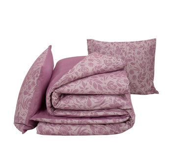 De Witte Lietaer Bettbezug Baumwolle Flanell Lea Flieder 240 x 220 cm