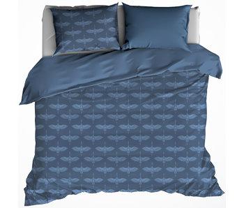 De Witte Lietaer Housse de couette Flanelle Coton Grue Bleu 260 x 240 cm