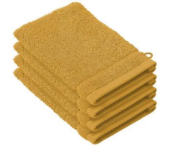 De Witte Lietaer Gants de toilette Stéphanie Golden Yellow 15 x 21 cm - 4 pcs.