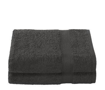 De Witte Lietaer Shower towel Stéphanie Ebony 70 x 140 cm - 2 pcs.