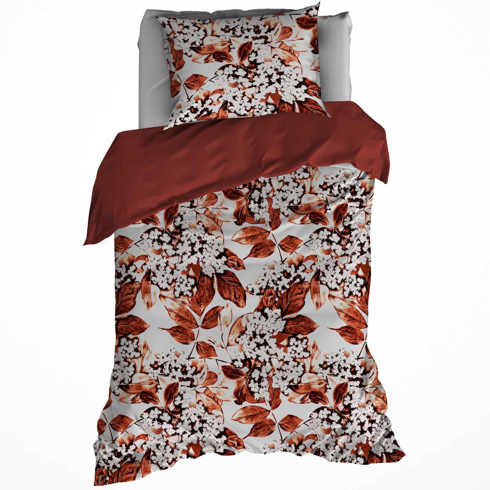 Dwl Duvet Cover Mimulus 140x220 60x70 Spicy Red 100 Cotton Flannel Simbashop Nl