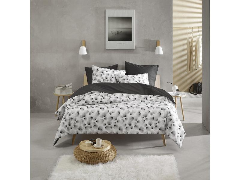 De Witte Lietaer Housse de couette Cotton Aileen - Simple - 140 x 200/220 cm - Noir
