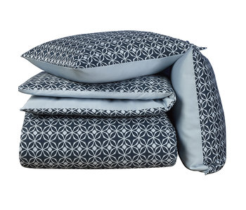De Witte Lietaer Bettbezug Cotton Satin Nickel Blue Fog 240 x 220 cm