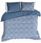 De Witte Lietaer Dekbedovertrek Katoen Satijn Henna - Tweepersoons - 200 x 200/220 cm - Blauw