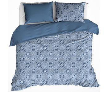 De Witte Lietaer Housse de couette Coton Satin Henna Blue Horizon 200 x 200/220 cm