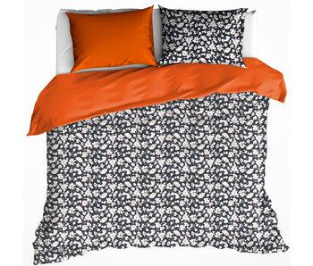 De Witte Lietaer Bettbezug Baumwolle Satin Ingwer Tiger Blüte 240 x 220 cm