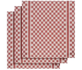 De Witte Lietaer Tea towel Groom-A Red 3 pieces 65 x 70 cm