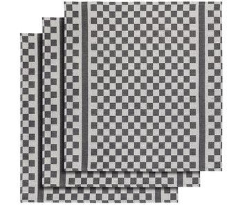 De Witte Lietaer Geschirrtuch Bräutigam-A Schwarz 3 Stück 65 x 70 cm