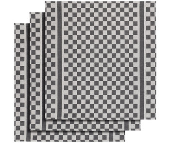 De Witte Lietaer Theedoek Groom-A Black 3 stuks 65 x 70 cm