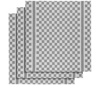 De Witte Lietaer Theedoek Groom-A Grey 3 stuks 65 x 70 cm