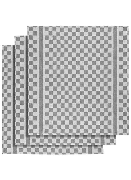 De Witte Lietaer Tea towel Groom-A Gray 3 pieces 65 x 70 cm