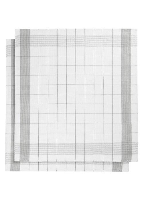 De Witte Lietaer Tea towel Glass towel Mixte Gray 2 pieces 68 x 68 cm