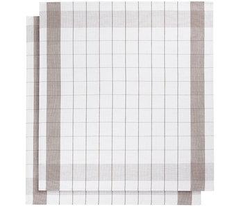 De Witte Lietaer Theedoek Glazendoek Mixte Champignon 2 stuks 68 x 68 cm