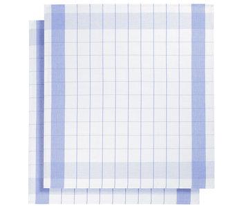 De Witte Lietaer Torchon Torchon en verre Mixte Blue 2 pièces 68 x 68 cm