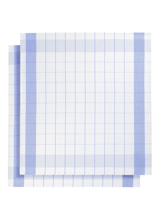 De Witte Lietaer Tea towel Glass towel Mixte Blue 2 pieces 68 x 68 cm