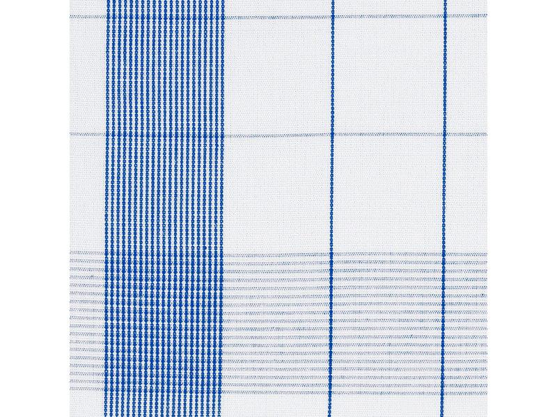 De Witte Lietaer Theedoek Glazendoek Mixte Blue 2 stuks 68 x 68 cm