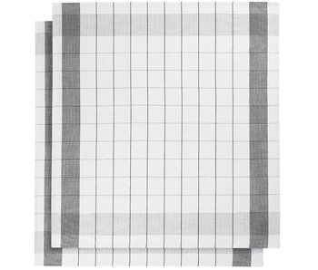 De Witte Lietaer Tea towel Glass towel Mixte Black 2 pieces 68 x 68 cm