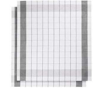 De Witte Lietaer Theedoek Glazendoek Mixte Black 2 stuks 68 x 68 cm