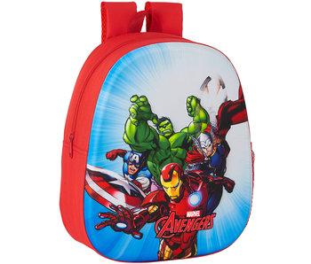 Marvel Avengers Rucksack 3D kampfbereit 33 x 27 cm