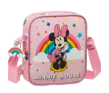 Disney Minnie Mouse Schoudertas mini Rainbow 18 x 16 cm
