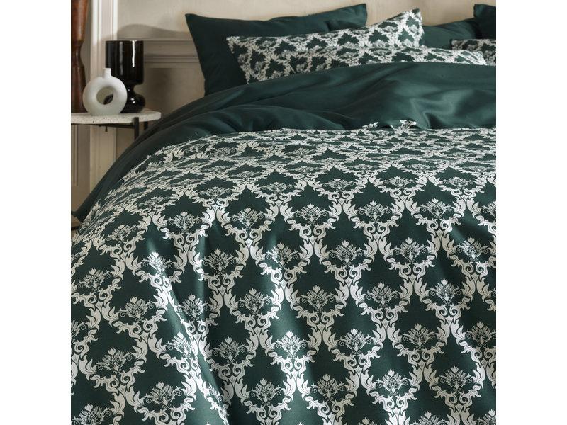 De Witte Lietaer Duvet cover Cotton Satin Rococo - Lits Jumeaux - 240 x 220 cm - Green