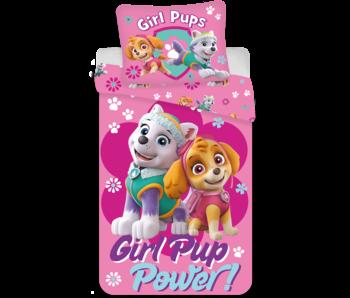 PAW Patrol Girl Power dekbedovertrek 140 x 200 cm 70 x 90 cm katoen