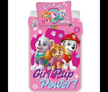 PAW Patrol BABY Dekbedovertrek Girl Pup Power 100 x 135 cm Katoen