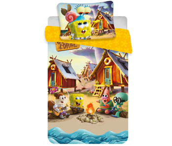 Sponge Bob Camp Coral baby dekbedovertrek 100 x 135 40 x 60 cm katoen