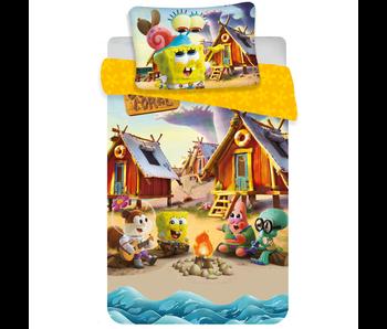 SpongeBob BÉBÉ Housse de couette Camp Coral 100 x 135 cm Coton