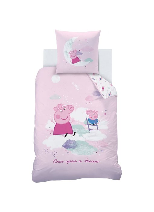 Peppa Pig Dekbedovertrek Dream 140 x 200 Katoen