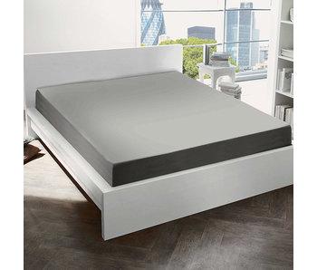 De Witte Lietaer Hoeslaken Katoen Flanel Alva Natural Grey - 90 x 200 cm