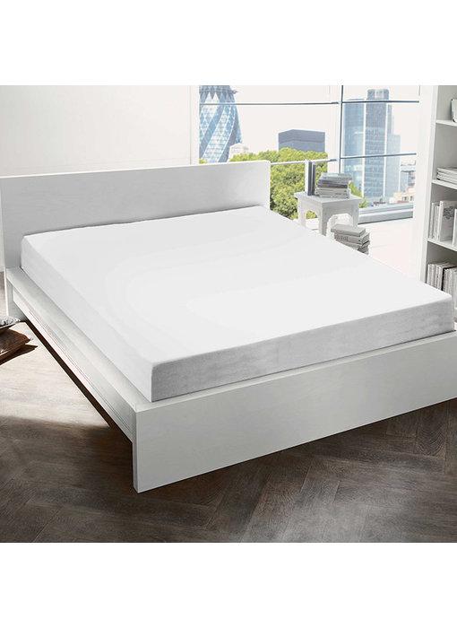 De Witte Lietaer Hoeslaken Katoen Flanel Alva White - 180 x 200 cm