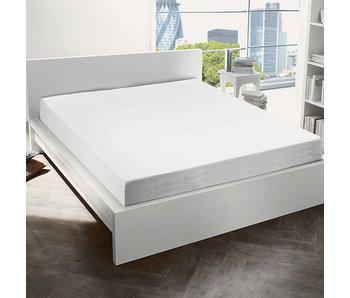 De Witte Lietaer Spannbetttuch Baumwolle Flanell Alva Weiß - 90 x 200 cm