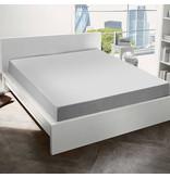 De Witte Lietaer Hoeslaken Katoen Flanel Alva - 180 x 200 cm - Grijs