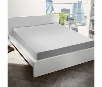 De Witte Lietaer Hoeslaken Katoen Flanel Alva Light Grey - 180 x 200 cm