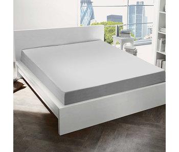 De Witte Lietaer Hoeslaken Katoen Flanel Alva Light Grey - 160 x 200 cm