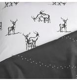 De Witte Lietaer Dekbedovertrek Antilope - Eenpersoons - 140 x 200/220 cm - Grijs