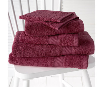De Witte Lietaer Promopack Helene Beet Red - Bath textiles set of 6 pieces