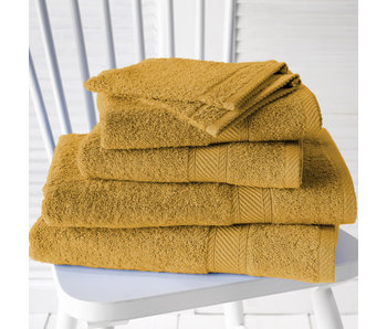 De Witte Lietaer Promopack Helene Golden Yellow - Set de 6 textiles de bain