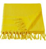 De Witte Lietaer De Witte Lietaer Hamam strandlaken met flosjes Fjara yellow 100x180