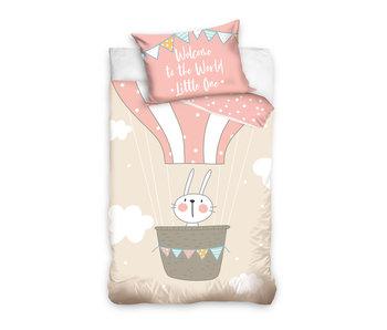 Konijn Willkommen auf der Welt Baby Bettbezug 100 x 135 40 x 60 cm Baumwolle