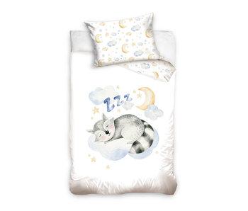 Animal Pictures Housse de couette bébé raton laveur 100 x 135 40 x 60 cm coton