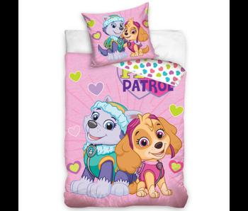 PAW Patrol housse de couette bébé Skye et Everest 100 x 135 40 x 60 cm coton